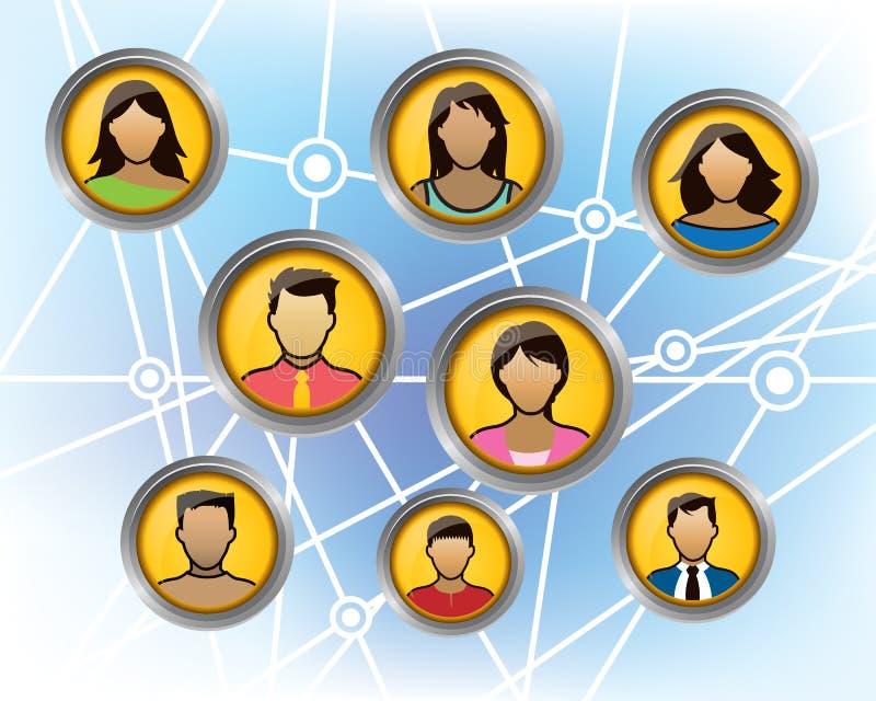 Groupe social illustration stock