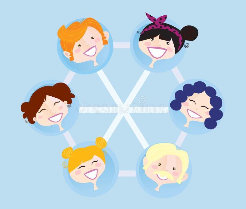 Groupe social de réseau illustration de vecteur