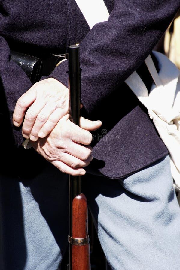 Groupe uniforme 2 de guerre civile photographie stock