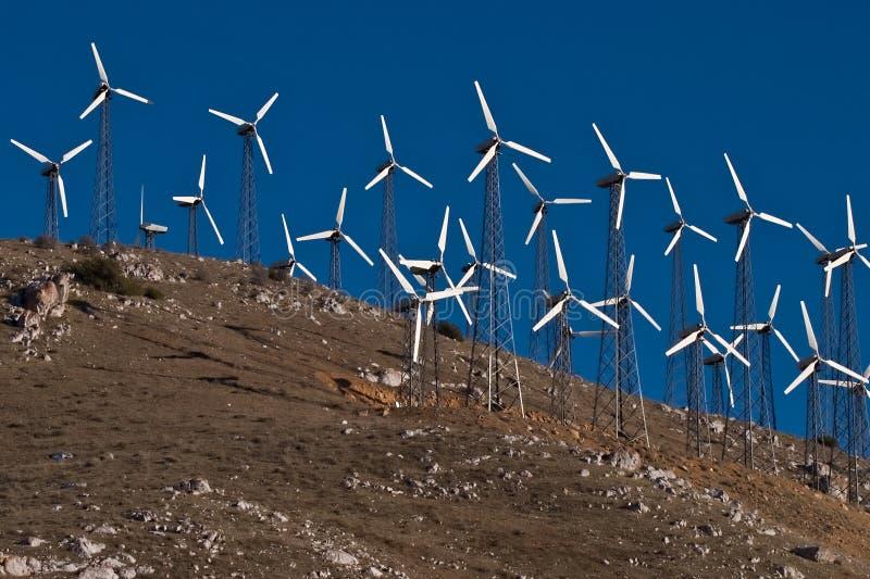 Groupes électrogènes de moulin à vent photos stock