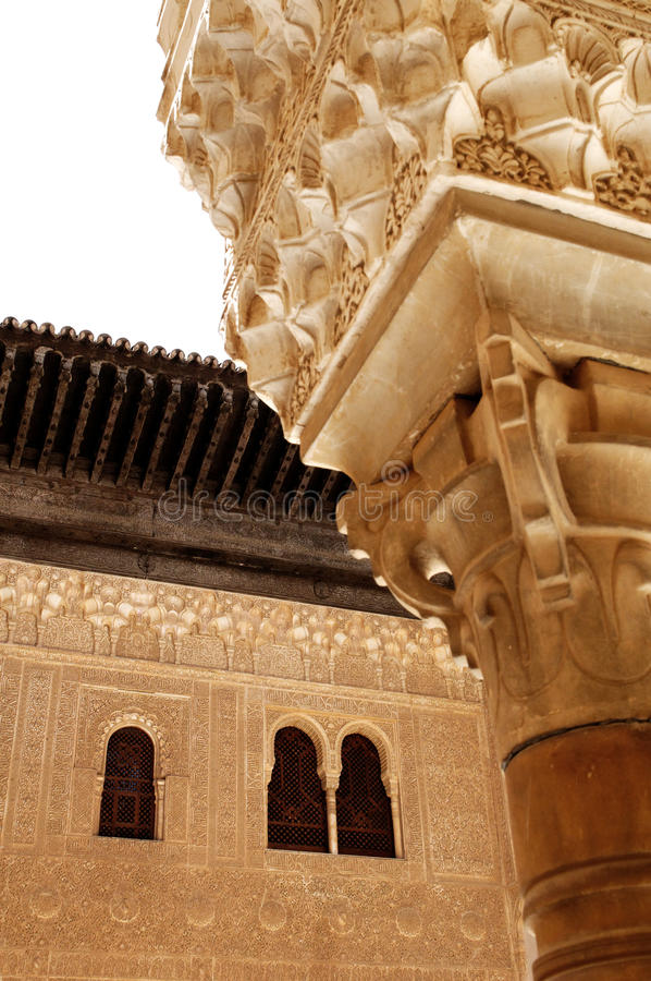 Groupes architecturaux d'Alhambra images stock