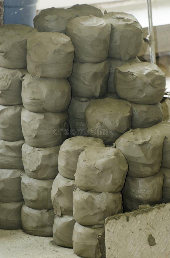 Groupes d'argile de poterie photos stock