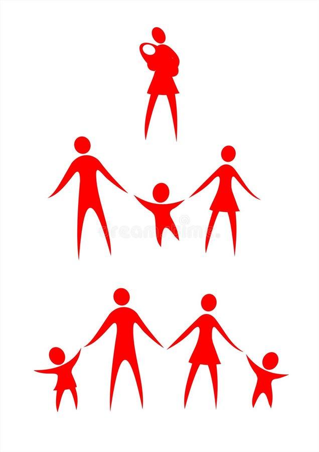 Groupes de famille illustration stock