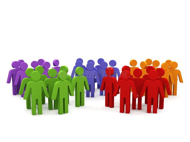 Groupes de personnes. illustration de vecteur