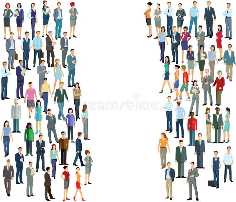 Groupes de personnes distincts illustration de vecteur