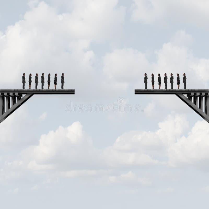 Groupes divisés illustration libre de droits