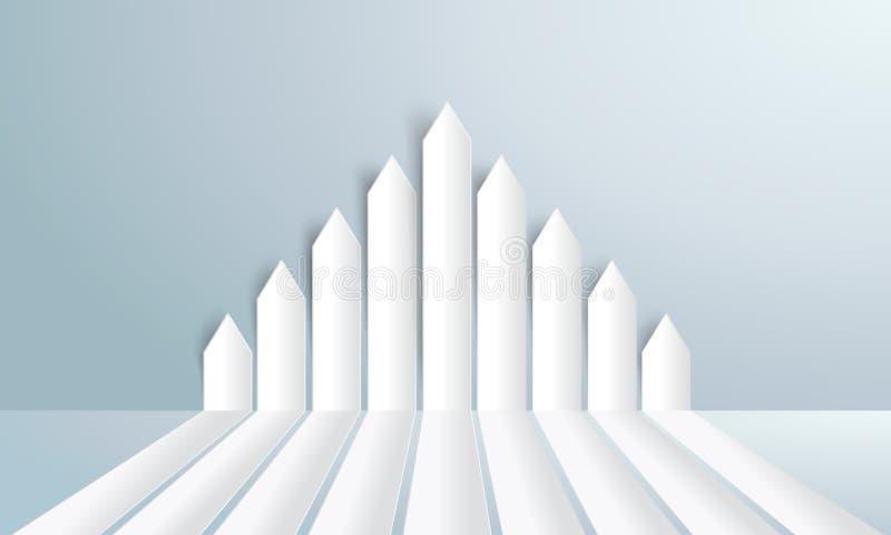 Groupez le vecteur vers le haut dirigé par flèches de livre blanc - illustration stock