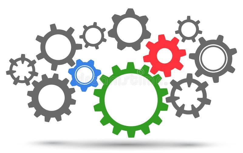 Groupez les vitesses, travail d'équipe de concept, idée d'affaires de générateur - vecteur illustration stock