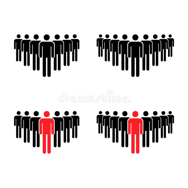 Free Grouping People Collection Flat Icon Isolated On White Background. Teamwork Symbol. Leadership Vector Illustration Set Royalty Free Stock Photography - 197432897