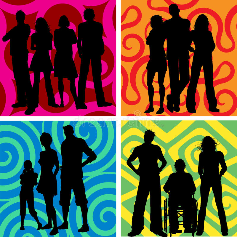 Download Groups of people stock vector. Illustration of friends - 14590815