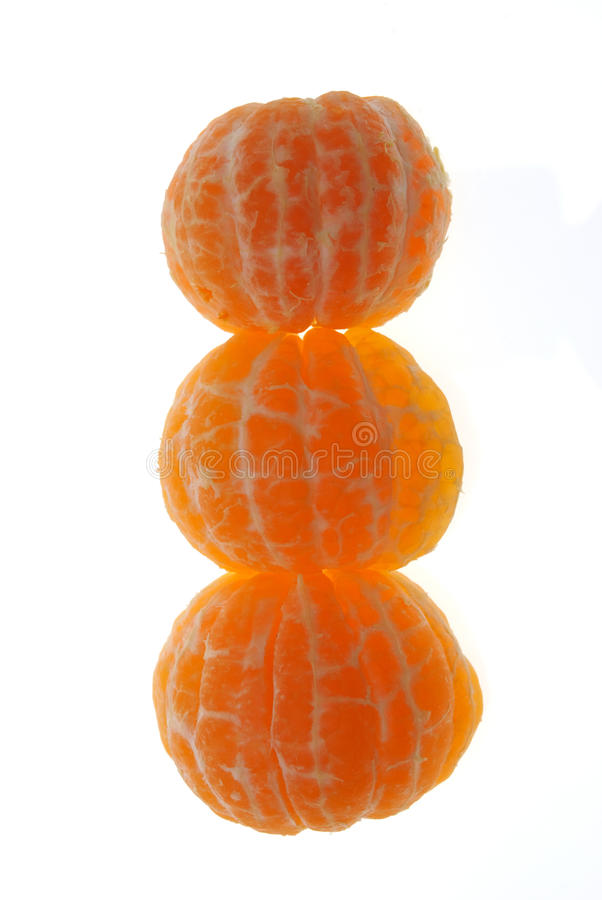 Download Groups Of Segments Of A Tangerine Stock Photo - Image: 12492414
