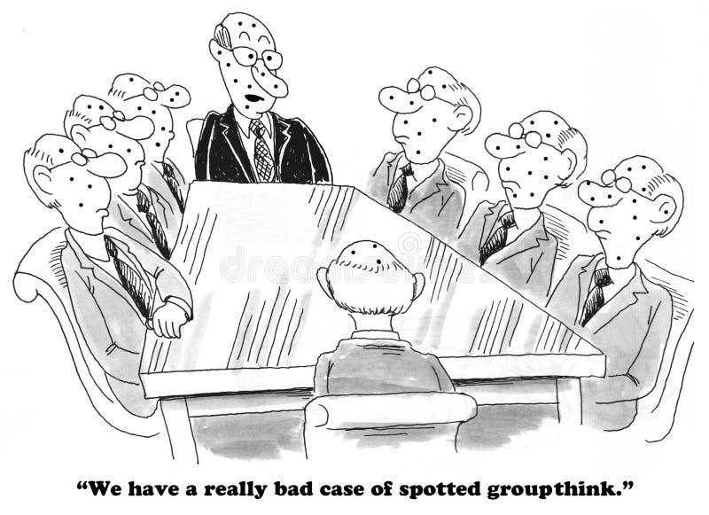 GroupThink royalty ilustracja