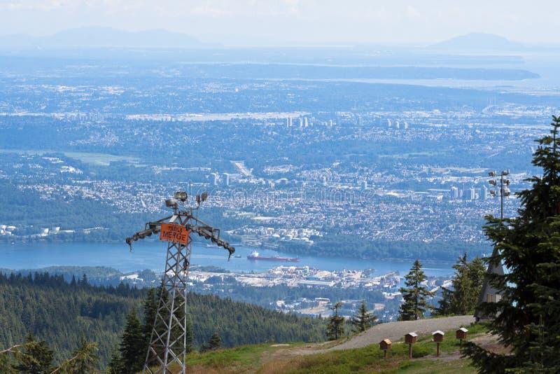 Grouse Mountain Vancouver stock photo