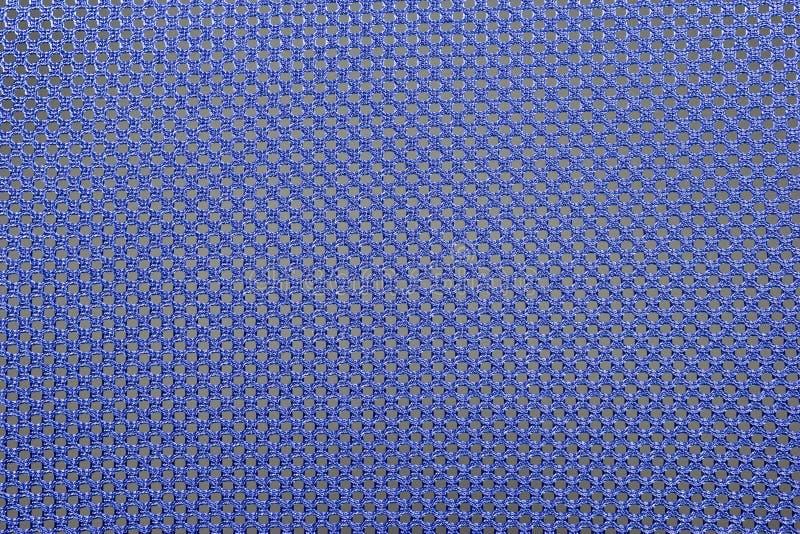 Grov blå tygtextur, stuckit bomullstyg arkivfoto