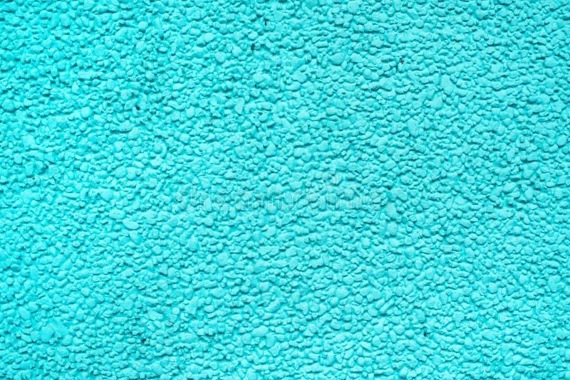 Grov cementväggyttersida i cyan signal fotografering för bildbyråer
