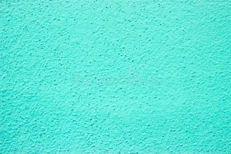Grov-grained cyan väggmålarfärg - royaltyfri fotografi