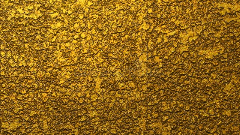 Grov grungy guld- brun metallisk bakgrund vektor illustrationer