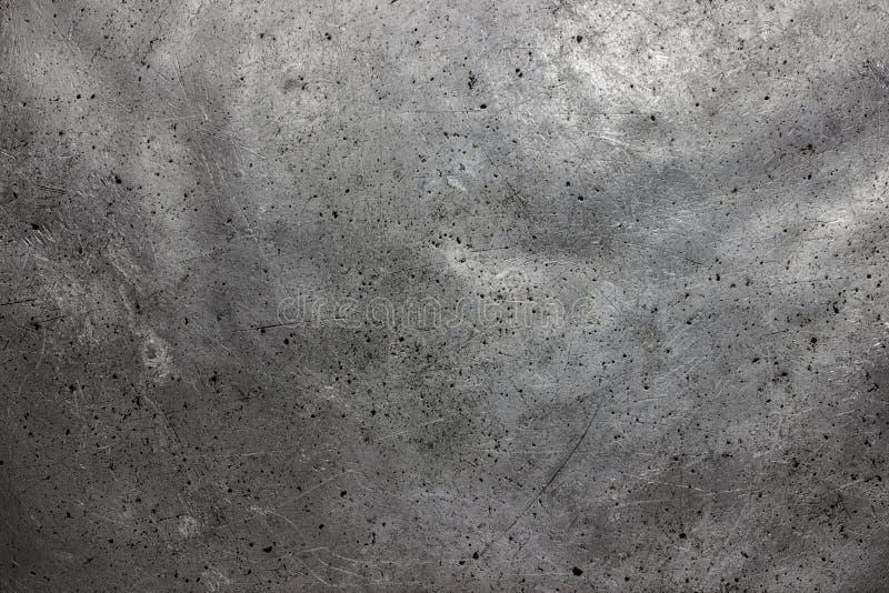 Grov metalltextur, grå färg stålsätter eller gjutjärnyttersida arkivbild