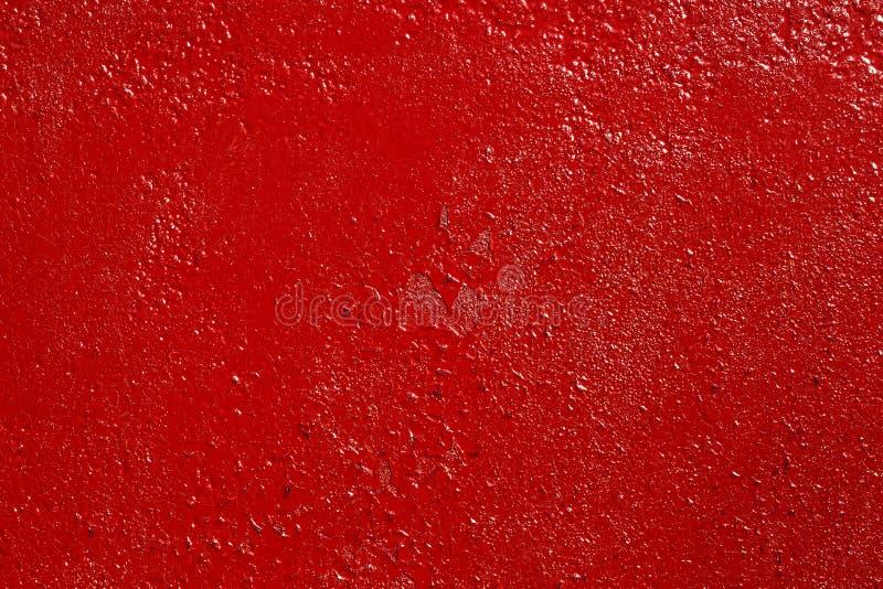 Grov röd målad rostig metallyttersida, hög upplösningstextur fotografering för bildbyråer