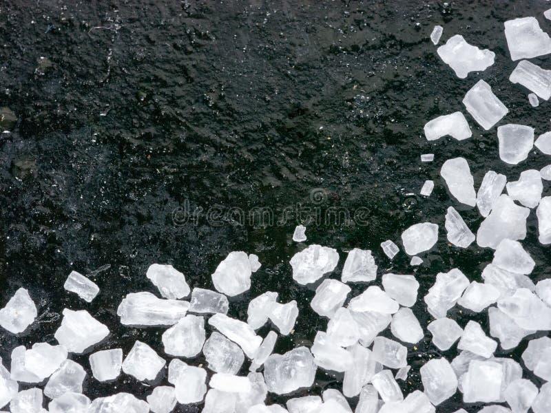 Grov salt closeup arkivfoton