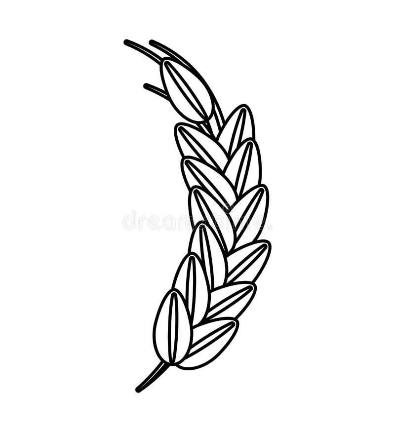 Grov spikölsymbol vektor illustrationer