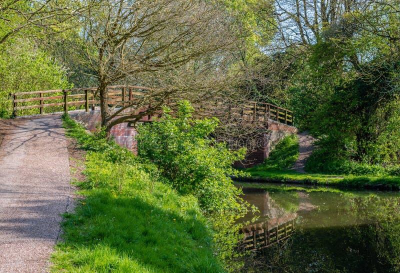 Grov Wood bro inga 166 royaltyfri foto