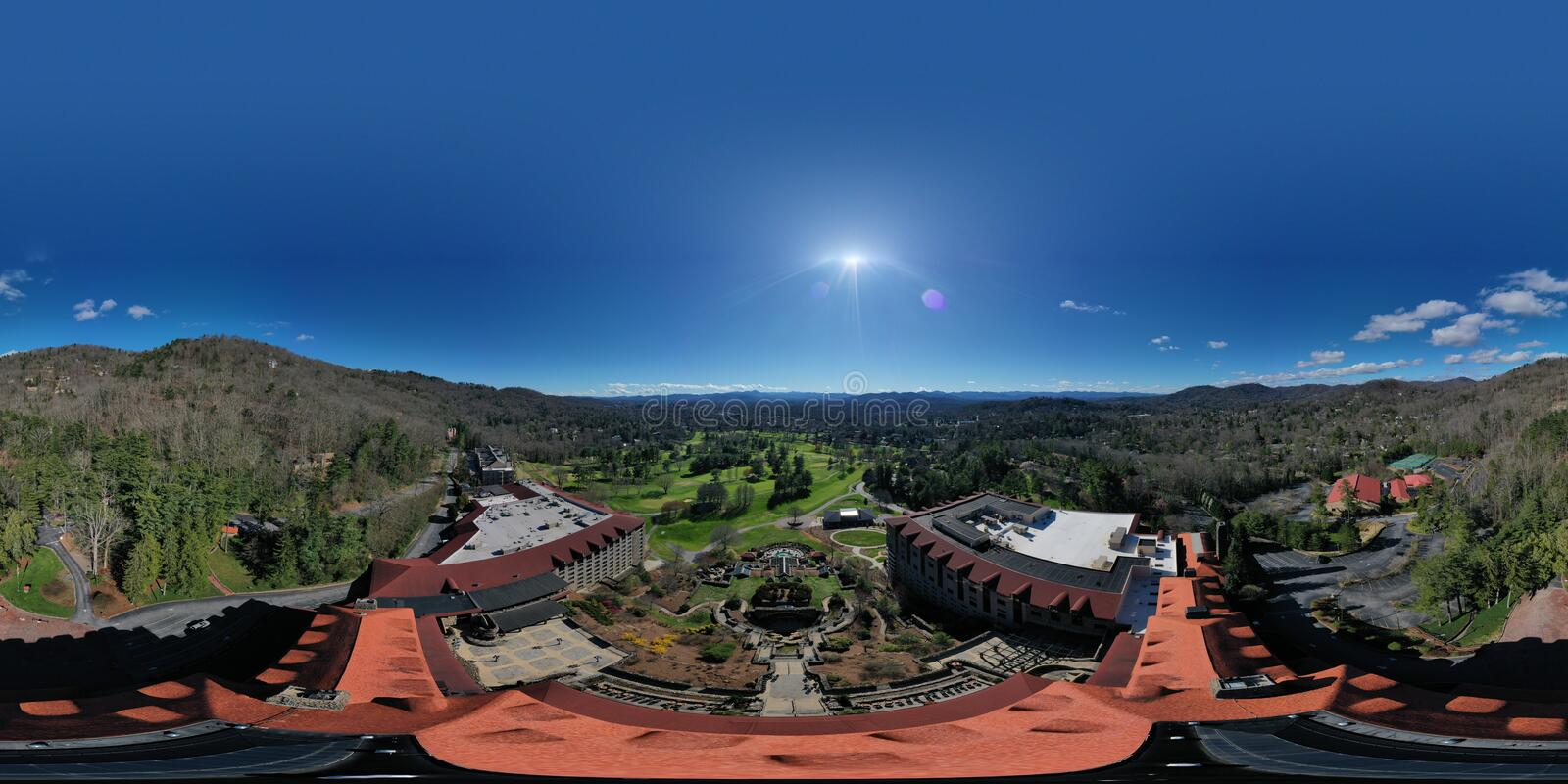 Grove Park Inn 360 degrees panorama royalty free stock photos