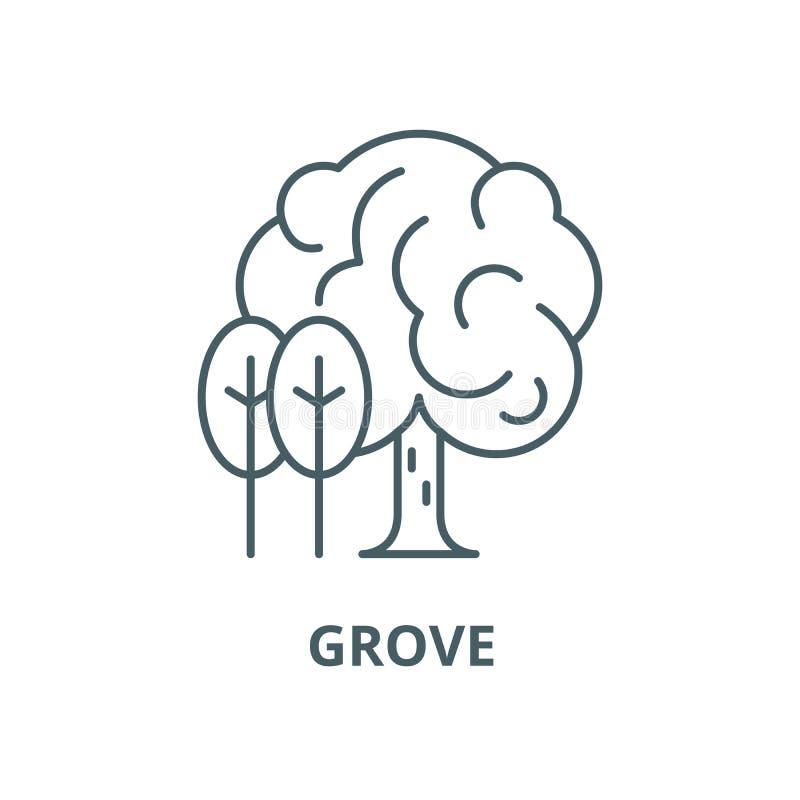Grove-Vektorlinie Ikone, lineares Konzept, Entwurfszeichen, Symbol vektor abbildung