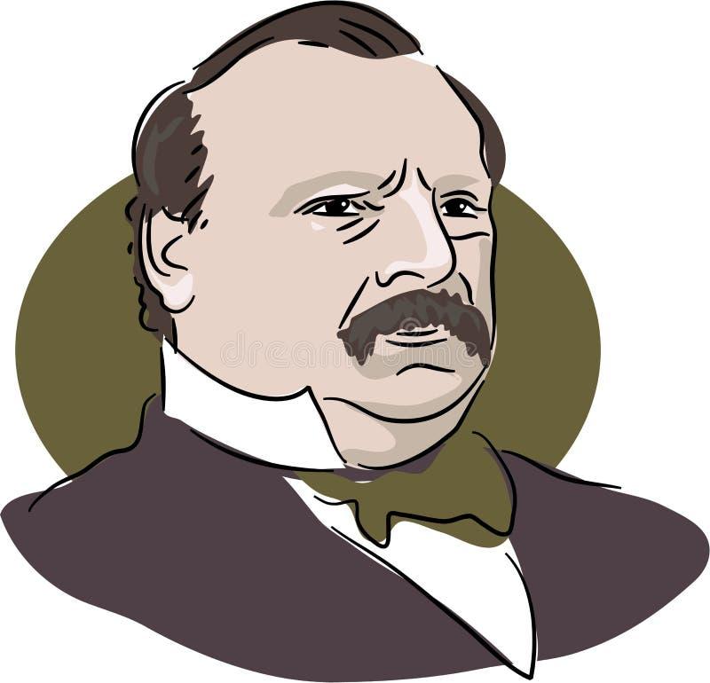 Grover Cleveland ilustración del vector