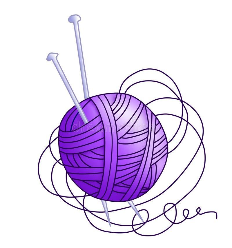 Groviglio con il filetto viola (colore) illustrazione di stock