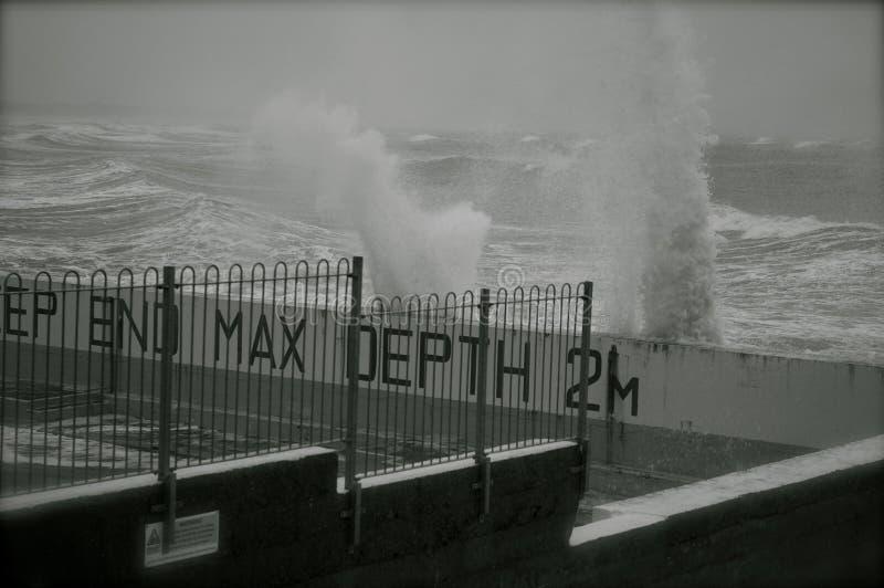 Grovt hav fotografering för bildbyråer