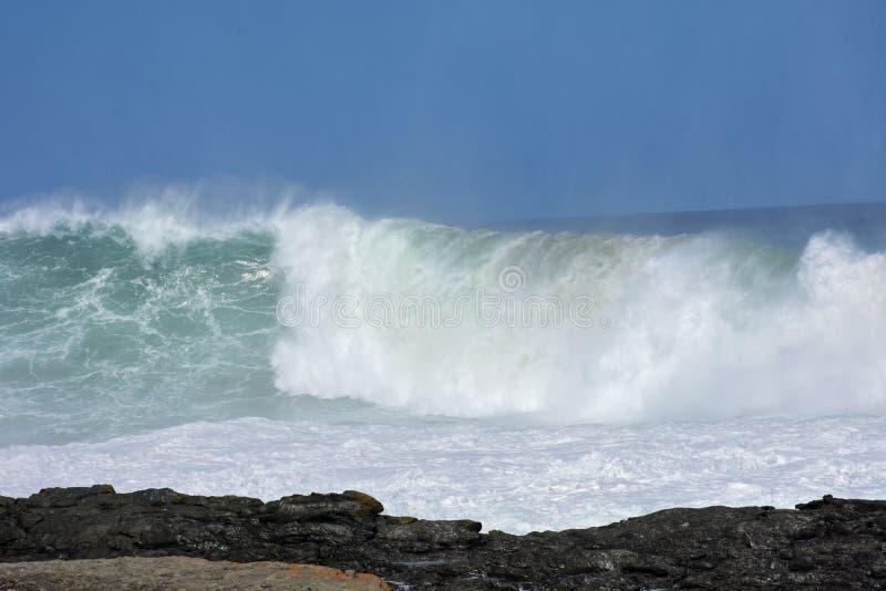Grovt hav & höga vågor, Tsitsikamma nationalpark, Sydafrika royaltyfri foto