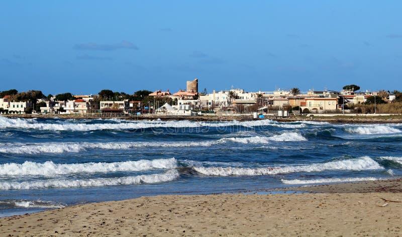 Grovt hav i Sicilien arkivbilder