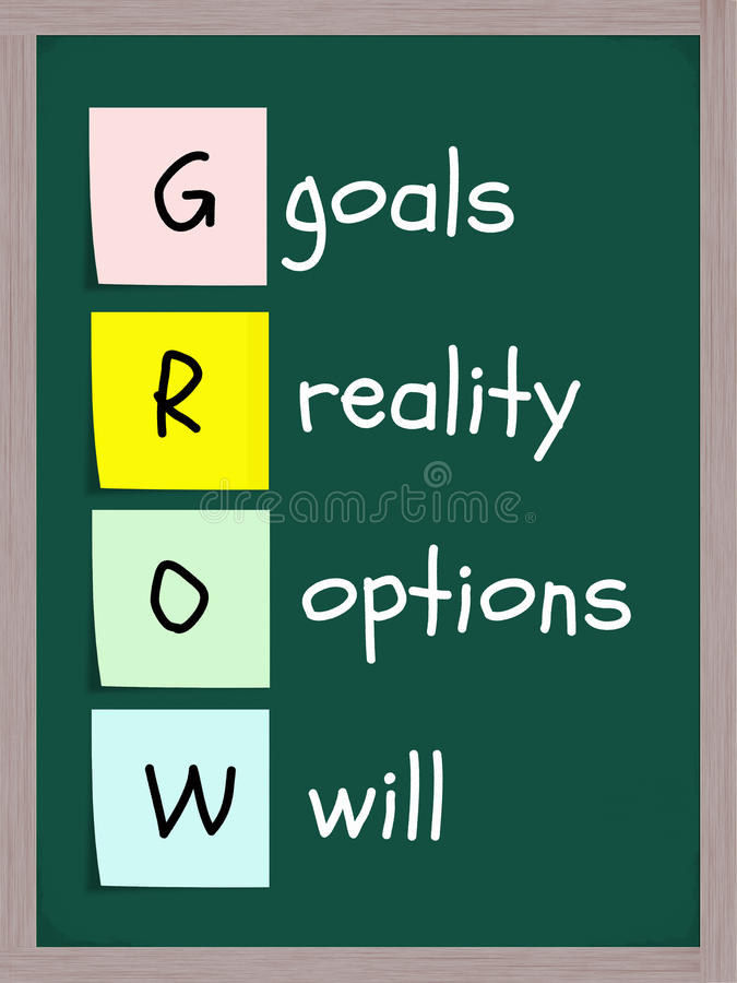 Download GROW acronym stock photo. Image of options, chalkboard - 20641134