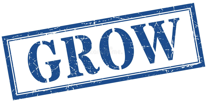 grow stamp royalty free illustration