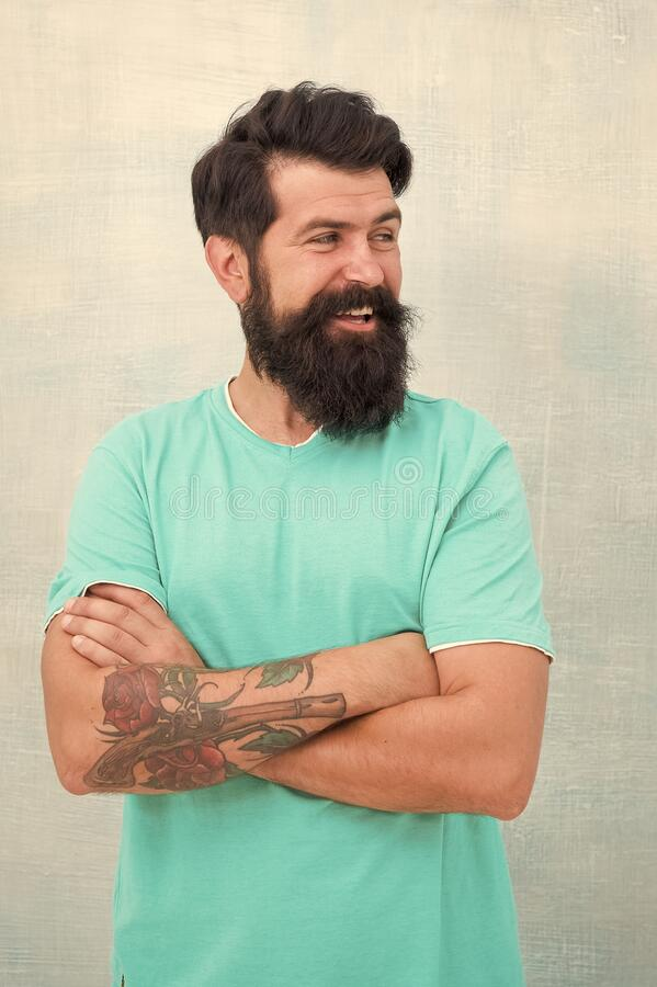 Grow long beard. Challenges like dryness ingrown hairs and irritation. Find best beard design shape for facial hair. Products is essential for maintaining men stock images