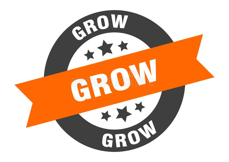 grow sign vector illustration
