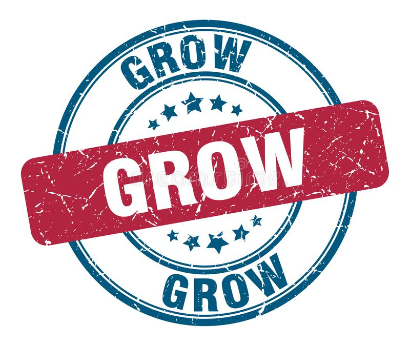grow stamp vector illustration