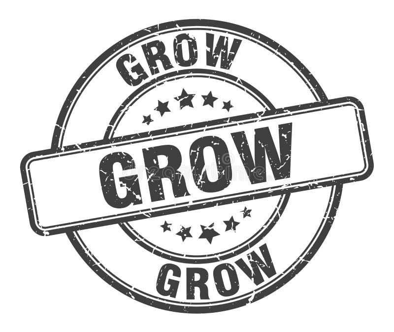 grow stamp stock illustration