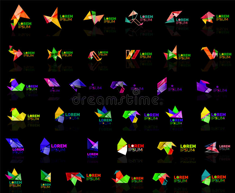 Grow up arrow origami abstract vector logo design template paper creative office icon business company symbol concept vector illustration