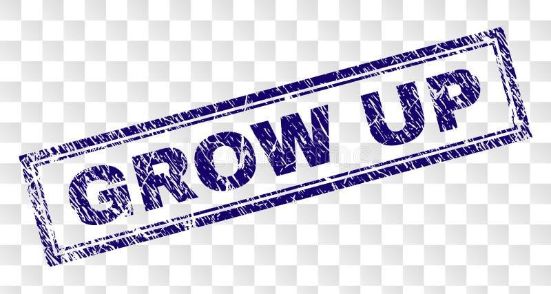 Grunge GROW UP Rectangle Stamp royalty free illustration