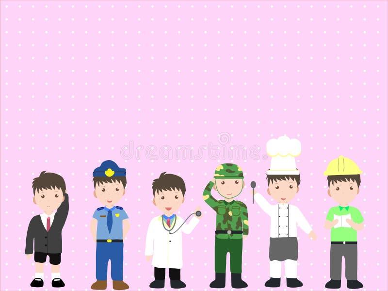 Download Grow up stock vector. Image of juvenile, policeman, builder - 60942037