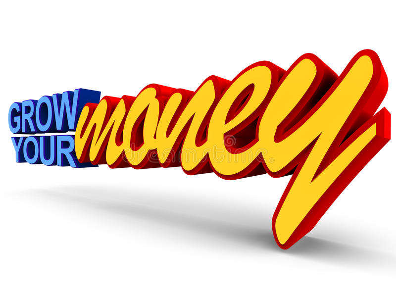 Grow your money royalty free illustration