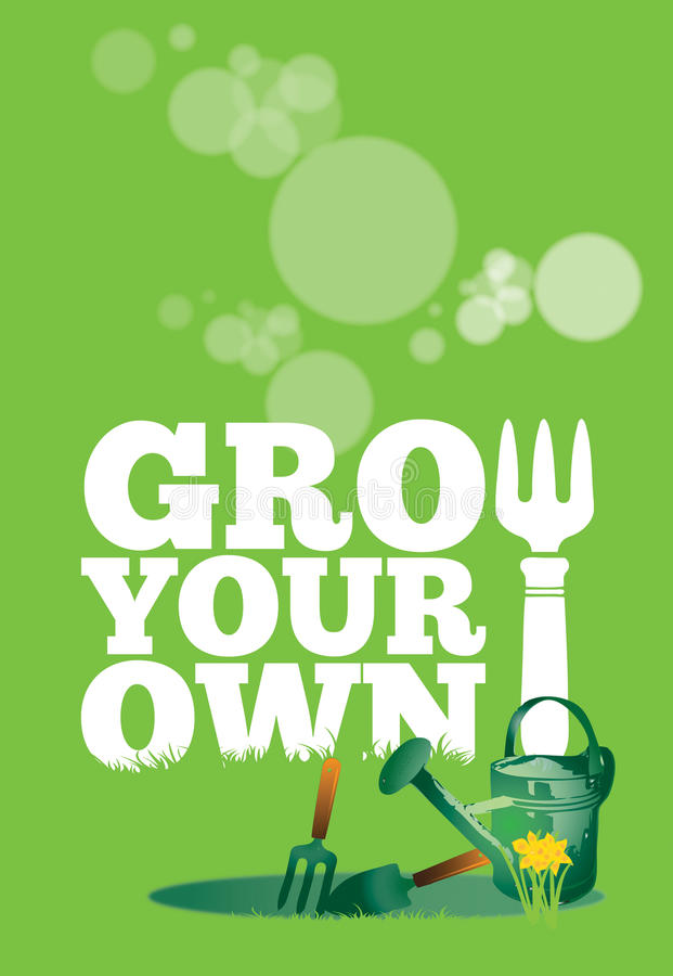 Grow Your Own Poster vector illustration