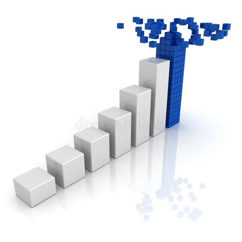Growing Bar Diagram With Top Of Building Blocks Stock