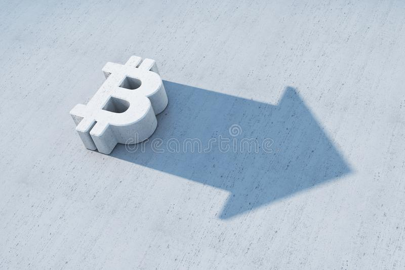 The growing bitcoin symbol royalty free illustration