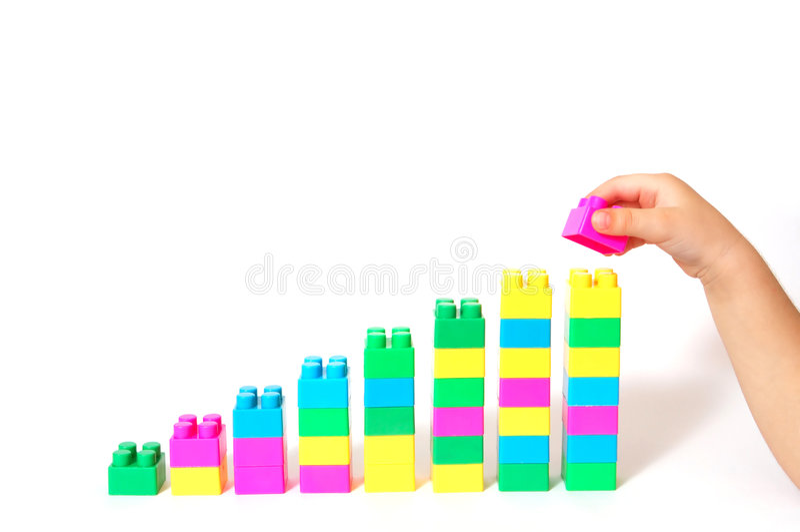 Growing blocks bar stock photo