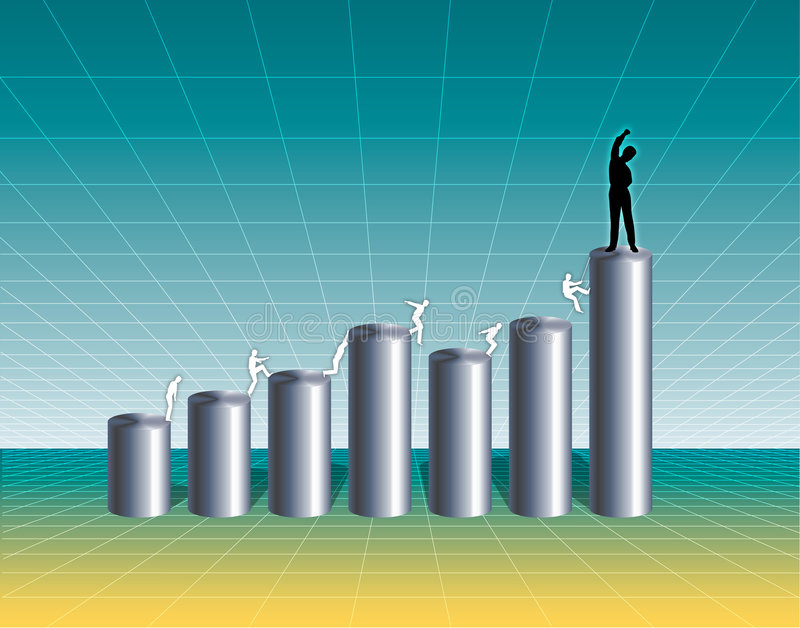 Download Growing Business Chart stock illustration. Image of graphs - 931728