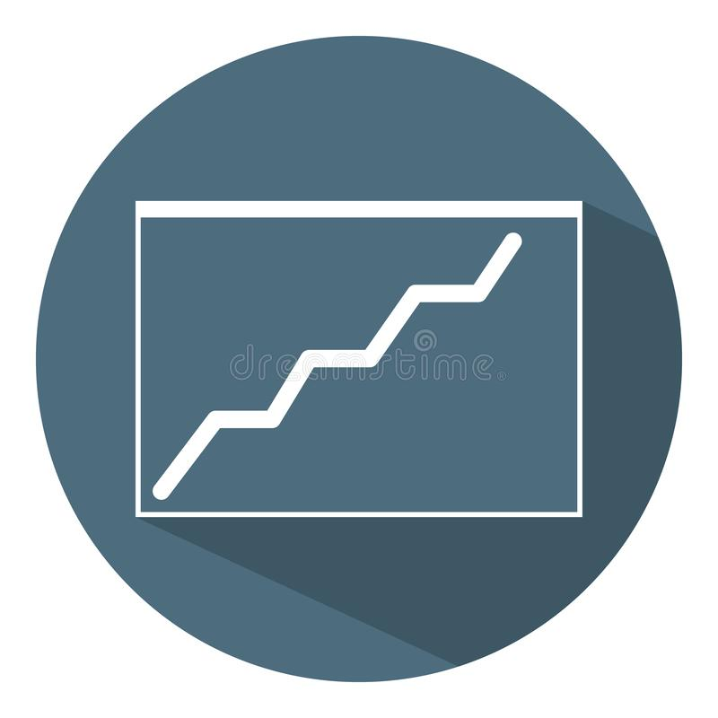 Growing Chart Icon. Business Concept. Schedule. Flat Style. Vector illustration for Design, Web, Infographic. Growing Chart Icon. Business Concept. Flat Style royalty free illustration