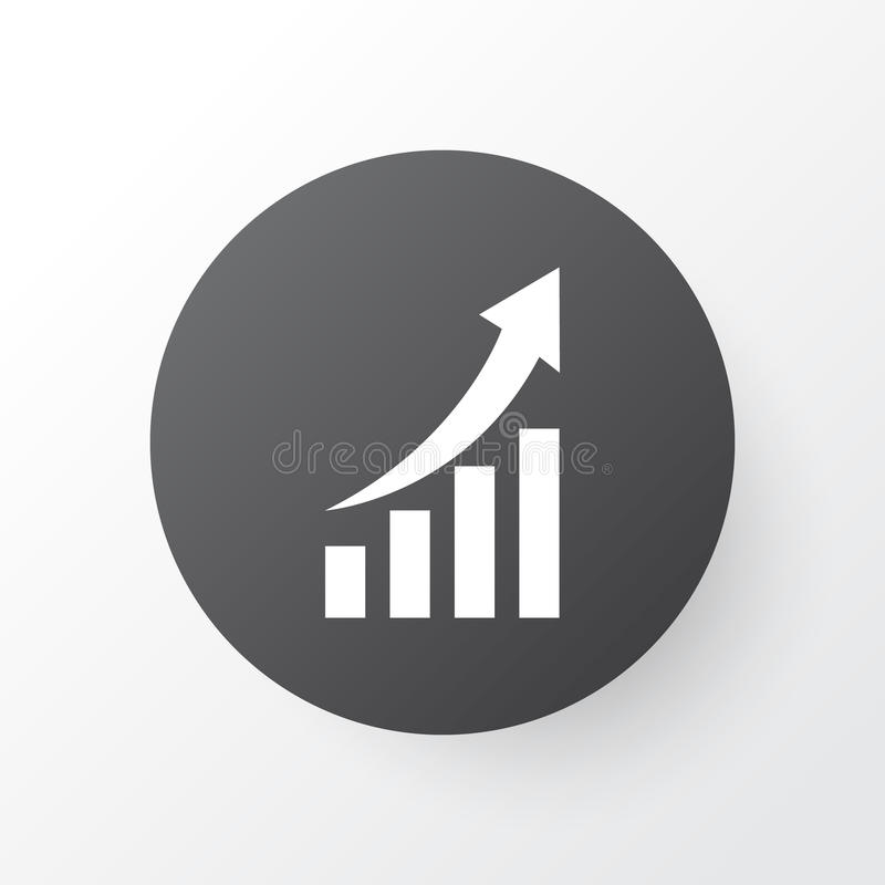 Growing Chart Icon Symbol. Premium Quality Isolated Increasing Element In Trendy Style. Premium Quality Isolated Increasing Element In Trendy Style. Growing vector illustration